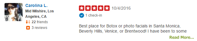 Santa Monica Botox Client Review
